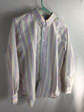 Kellys Kids Boys Long Sleeve Shirt Size 14-16 Striped Multicolor