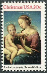 CHRISTMAS ART 1983 Scott 2063 U.S. 20c Madonna and Child EXCELLENT MNH-OG (229b)