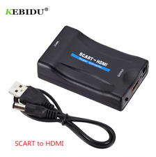SCART to HDMI Composite Video Converter Audio Adapter with USB Cable NYPR