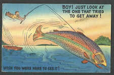 Dated 1967 Ppc* Coffeeville Ms Fish Story Wish You Were Here