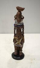 African Doll Turkana Female Wooden Hand Carved Doll Kenya