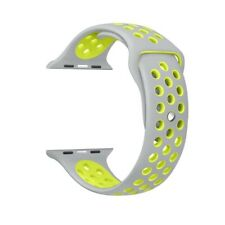 Apple Watch Pulsera Correa Sport 42mm silicona serie 1  2 3 4 Gris/Amarillo
