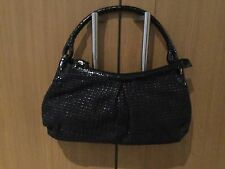 EYE CACTHING TULA BLACK WOVEN SHOULDER BAG WITH DUST BAG USED ONCE