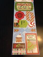 BoBunny Mistletoe Christmas Cheer Cardstock Stickers! Christmas