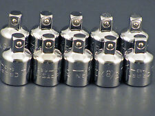 CRAFTSMAN HAND TOOLS 10pc LOT of ratchet wrench 3/8 X1/4 drive socket ADAPTERS