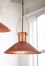 Industrial Style Copper Hand Hammered  Lounge Ceiling  Pendant Light Lamp