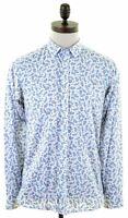 TED BAKER Mens Shirt Size 3 Medium Multicoloured Cotton  HY08