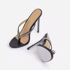 Extreme High Heels Mules Zoccoli Pantolette Stiletto Schwarz Gr. 41