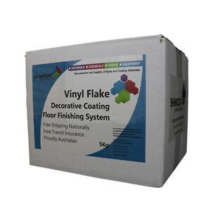 Blended Design Vinyl Flake/Chip/Fleck Decorative Floor Coating 5Kg/40sqmPARTIAL