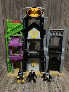 Imaginext Wayne Manor Tower Batman Playset lights & sound WORK TESTED 3 Figures