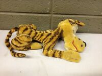 1950s Excelsior Sawdust Stuffed Tiger Lion Cat Animal Mohair (a223)