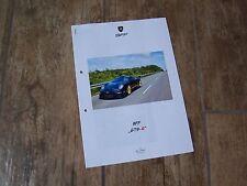Prospectus /  Brochure PORSCHE 9FF GT9 R 2011 //