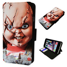 Chucky Horror Doll - Flip Phone Case Wallet Cover Fits Samsung & Iphone Models