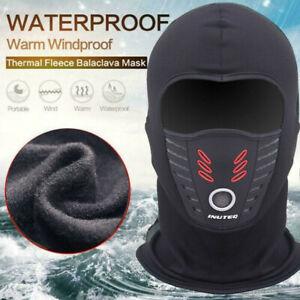 Mens Winter Warm Fleece Balaclava Thermal Ride Ski Hat Full Neck Face Mask