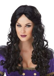 Renaissance Wig Black Long Curly Gypsy Romantic New by Cal. Costumes 70696