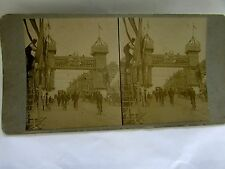 STEREO CARD PHOTOGRAPH  MELBOURNE PREPARING FOR ROYAL VISIT 1900s