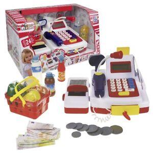 Spielkasse Registrierkasse Kinder Kasse mit Laufband inkl Einkaufskorb #45055