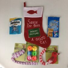 Pet Christmas Stockings Cat Stocking w/ Treats Gift Bag Christmas Home Decor