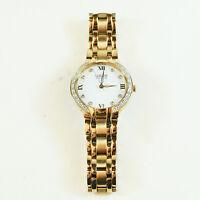 Citizen Eco-Drive White Diamond Bella Gold Tone Watch