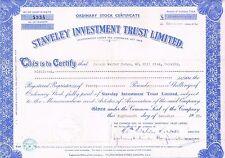 Certificado de participación limitada de confianza Staveley inversión 1959 capital £ 1800000