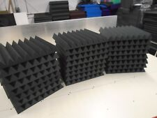 "Acoustic Studio Soundproofing Foam Panels Wedge/Pyramid 24 Tiles 24""x24""x3"""