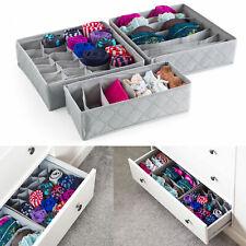 3 Pack Storage Drawer Organiser Storage Box Tidy Socks Bra Tie Underwear Divider