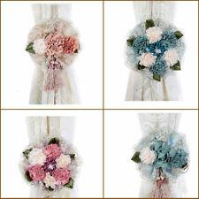 Vintage Flowers Curtain Tiebacks Binding Rope Tie Backs Holdbacks Home Decor US