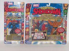 Rare MARVEL SUPER SHOWDOWN Action Figure Lot GHOST RIDER & SPIDER-MAN Vs. THING