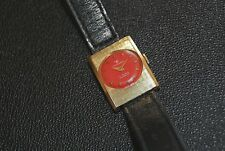 Rare Vintage Catorex Swiss Incabloc Women's Watch Red Dial