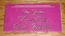 Original 1977 Chrysler Newport New Yorker Town Country Owners Operators Manual
