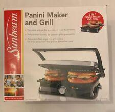 Sunbeam 2 Slice Panini Maker Press - Flat Grill - New