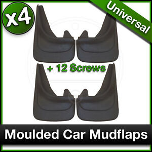 Custom Moulded MUDFLAPS Contour Car Mud Flaps for RENAULT Front and Rear x4