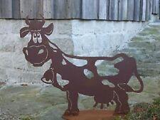 4Edelrost Kuh Lieselotte groß Bauerhof Stall Weide Wiese Figur Skulptur Garten