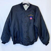 Union Pacific Railroad Vintage XL Nylon Jacket Embroidered Signal Safety Team