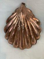Vintage Copper Shell Shaped Small Jello Baking Mold Nautical Retro Decor 515
