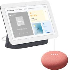 Asistente de pantalla con concentrador Nido de Google, carbón (2nd Gen.) + mini altavoz inteligente