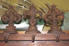 Gorgeous Ornate Fleur De Lis Cast-Iron Christmas Stocking Holder Hook Hanger
