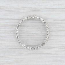 "Diamond Eternity Circle Pendant 10k White Gold ""Love"" Hearts"
