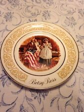 Wedgewood, Betsy Ross Collector Plate. Vibrant Patriotic Graphics,