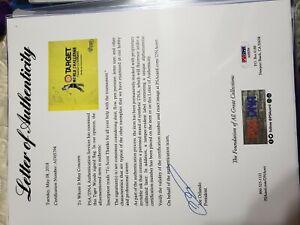 Tiger Woods Autograph Flag PSA/DNA COA