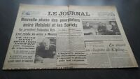 """El Diario"" Edition De 5 Horas Antiguo N º 17308 Domingo 10Mars1940 ABE"