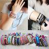 Ethnic Handmade Boho Multicolor String Cord Woven Braided Friendship Bracelet I