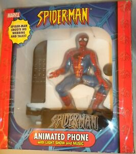 Spider-Man Animated REAL Phone Light Show Music Moves Talks NEW IN BOX