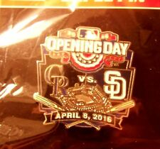 2016 Opening Day Coors Field Colorado Rockies SD San Diego Padres lapel pin