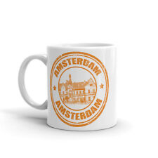 Amsterdam Netherlands Mug - Travel Gift Map Flag Travelling Europe #4706