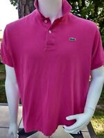 Men's Lacoste size 6 pinkish short sleeve Polo shirt