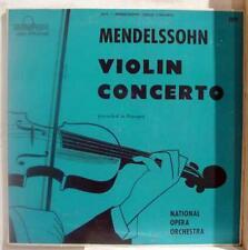 UNKNOWN mendelssohn violin concerto LP VG+ CONCERTONE 2071 Vinyl 1953 Record