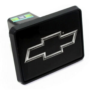 """Chevy Silver Bowtie Logo Tow Hitch Cover Plug for Car-Truck-SUV 2"""" Receiver"""