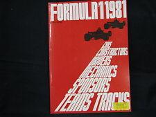 Book Formule 1 1981 door Anjes Verhey (English)
