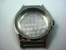 Mens Silver Tone Vintage Watch Case Id 30.02mm Crystal Crown Case Back New Old S